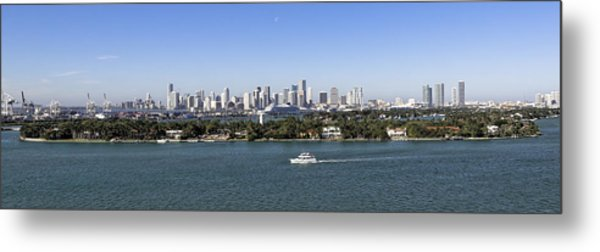 Miami Daytime Panorama Metal Print