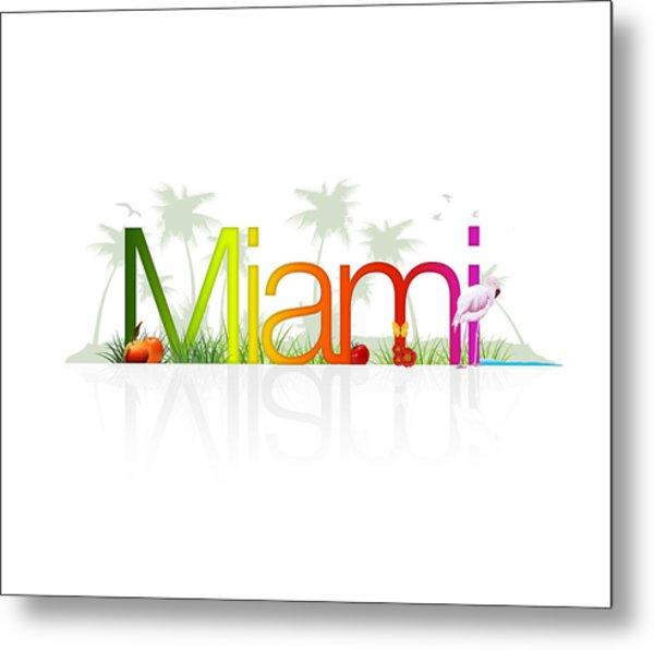 Miami- Florida Metal Print