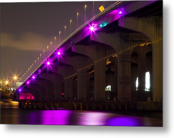 Miami Macarthur Causeway Bridge Metal Print