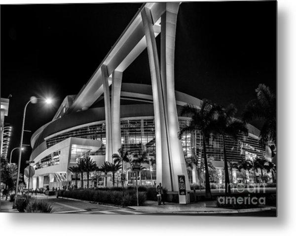 Miami Marlins Park Stadium Metal Print