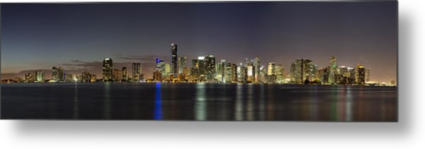 Miami Skyline Metal Print