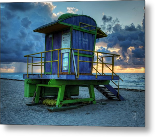 Miami - South Beach Lifeguard Stand 003 Metal Print
