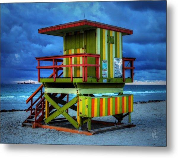 Miami - South Beach Lifeguard Stand 006 Metal Print