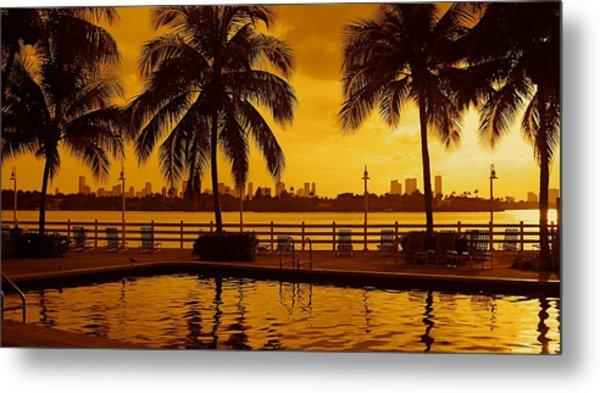 Miami South Beach Romance Metal Print