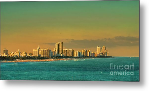 Miami Sunset Metal Print