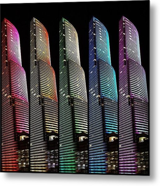 Miami Tower - Miami ( 1986 ) ... In Metal Print