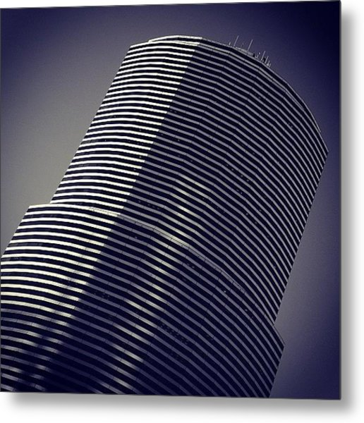 Miami Tower Bldg. - Miami ( 1983 - 1987 Metal Print