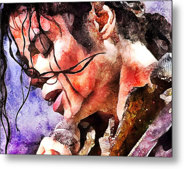 Michael Jackson Live And Alive 1 Metal Print