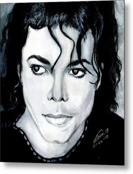 Michael Jackson Portrait Metal Print