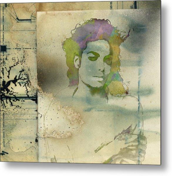 Michael Jackson Silhouette Metal Print