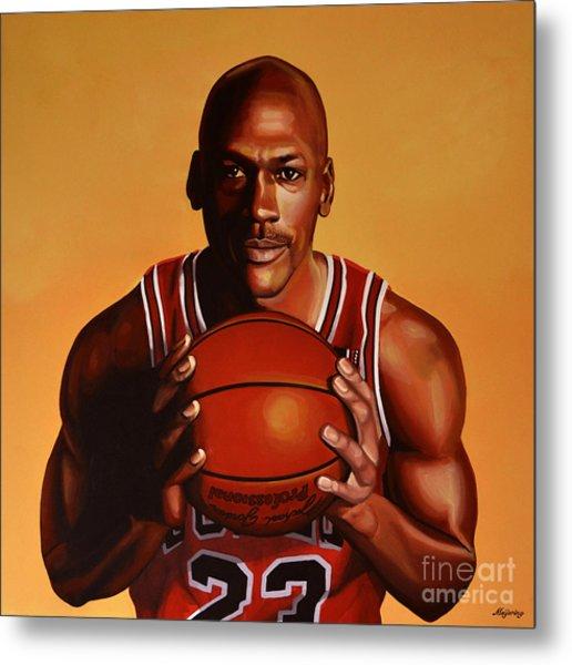 Michael Jordan 2 Metal Print