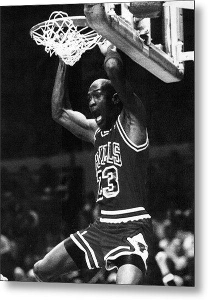 Michael Jordan Dunks Metal Print by Retro Images Archive
