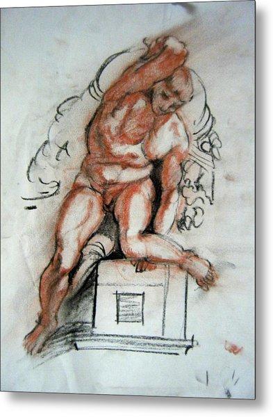 Michelangelo Study Metal Print