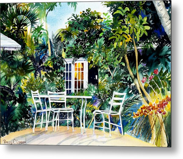 Michelle And Scott's Key West Garden Metal Print