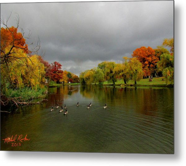 Michigan Autumn Metal Print