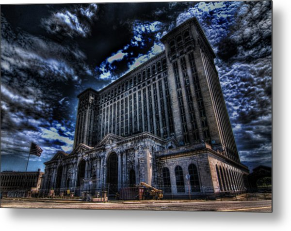 Michigan Central Station Hdr Metal Print