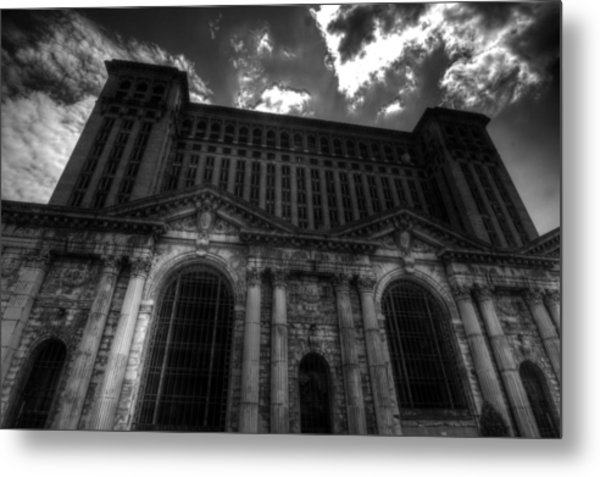 Michigan Central Station Highrise Metal Print