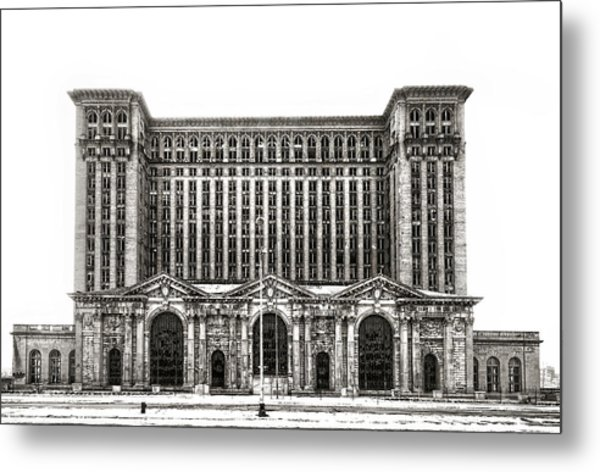 Michigan Central Station Metal Print