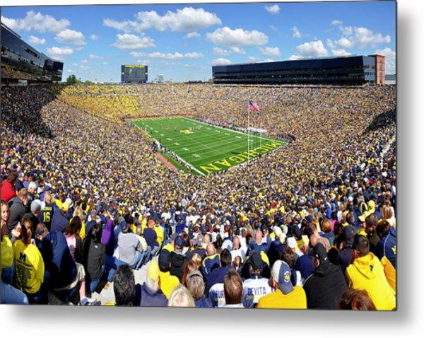 Michigan Stadium - Wolverines Metal Print