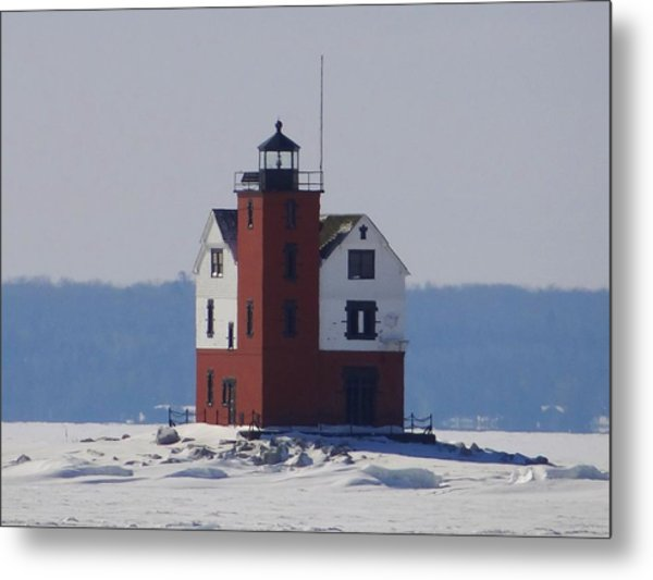 Michigan's Round Island Lighthouse Metal Print