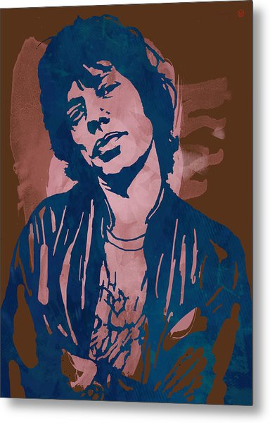 Mick Jagger - Pop Stylised Art Sketch Poster Metal Print by Kim Wang
