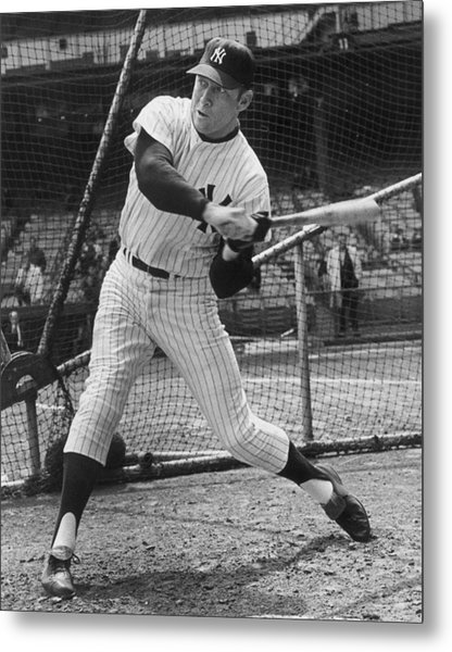 Mickey Mantle Poster Metal Print