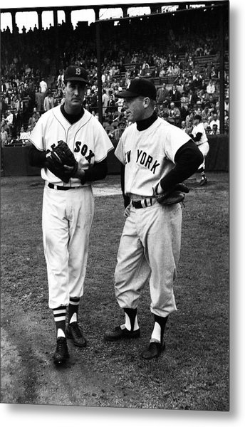 Mickey Mantle With Ted Williams Metal Print by Retro Images Archive