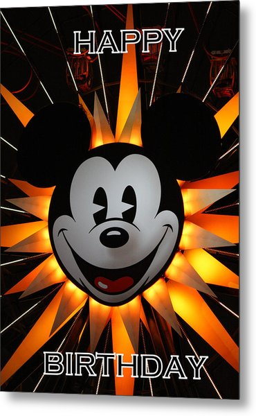 Mickey Mouse Metal Print