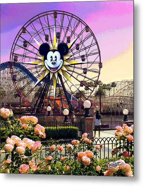 Mickey's Fun Wheel II Metal Print