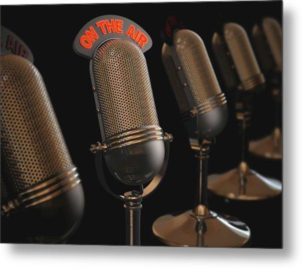 Microphones Metal Print by Ktsdesign/science Photo Library