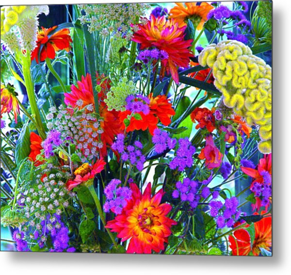 Mid August Bouquet Metal Print
