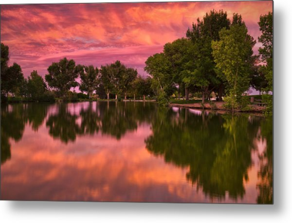 Mid Summers Sunset Metal Print