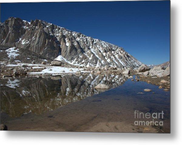 Middle Lake Reflections Metal Print