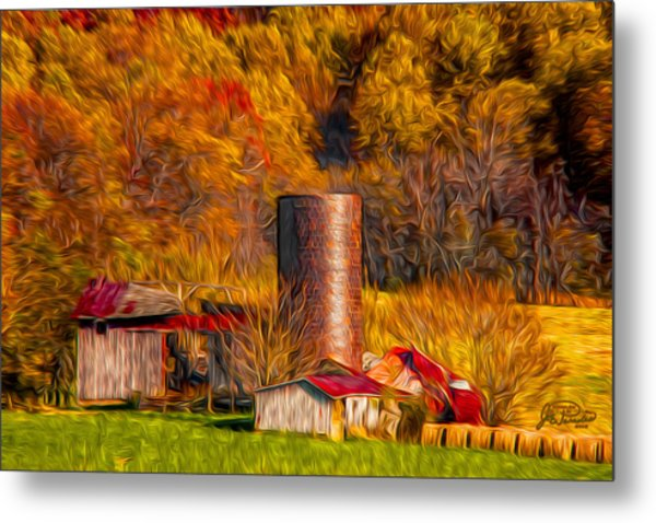 Middleburg Silo And Outbuildings Metal Print