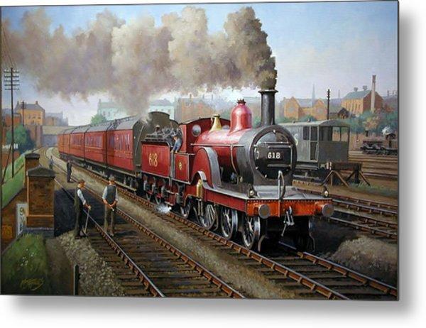 Midland Railway Single 1896. Metal Print