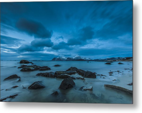 Midnight At Eggum Metal Print
