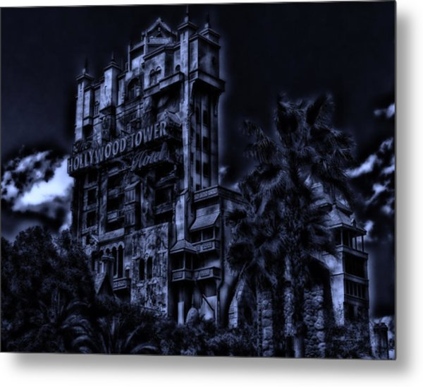 Midnight At The Tower Of Terror Metal Print