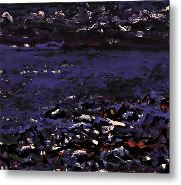Midnight Beach Metal Print