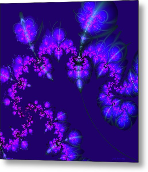 Midnight Blossoms Metal Print