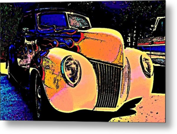 Midnight Driver Metal Print