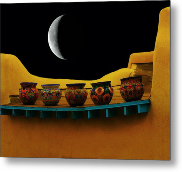 Midnight In Taos Metal Print