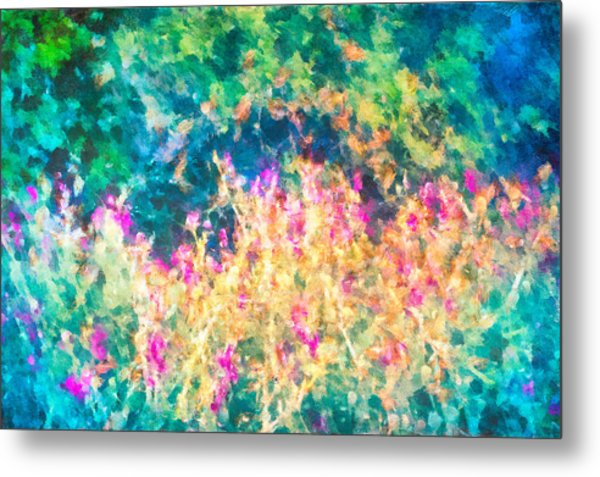 Metal Print featuring the mixed media Midnight In The Garden by Priya Ghose