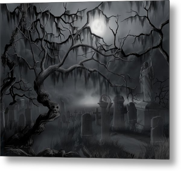 Midnight In The Graveyard  Metal Print