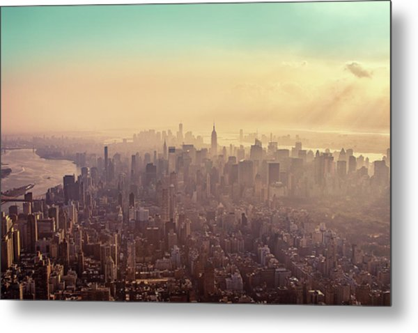 Midtown Manhattan At Dusk Metal Print