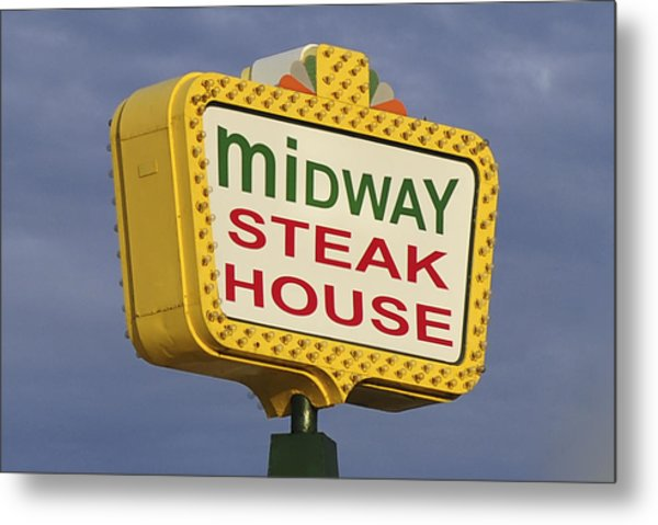 Midway Seaside Heights Boardwalk Nj Metal Print