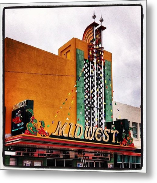Midwest Theater  Scottsbluff Ne Metal Print