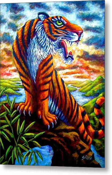 Mighty Tigress Metal Print