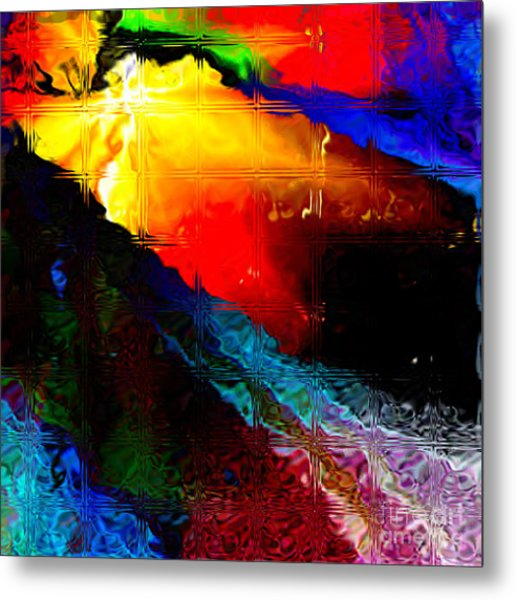 Migraine Glass Blocks Metal Print
