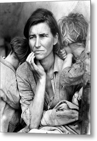Migrant Mother, 1936 Metal Print by Granger