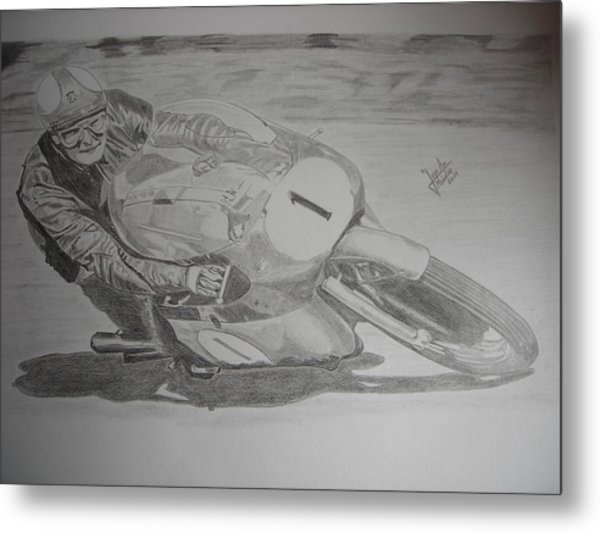 Mike Hailwood Metal Print by Jose Mendez